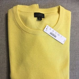 J. Crew Yellow Cashmere Sweater Brand New